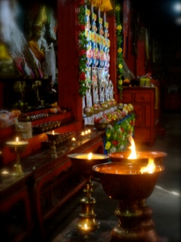 Many monks live and worship in this lamasery.
